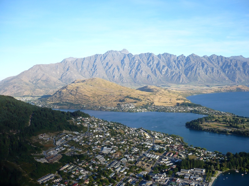 View of Queenstown from the top of the Gondola. Totally worth the hair-raising experience of getting up there!