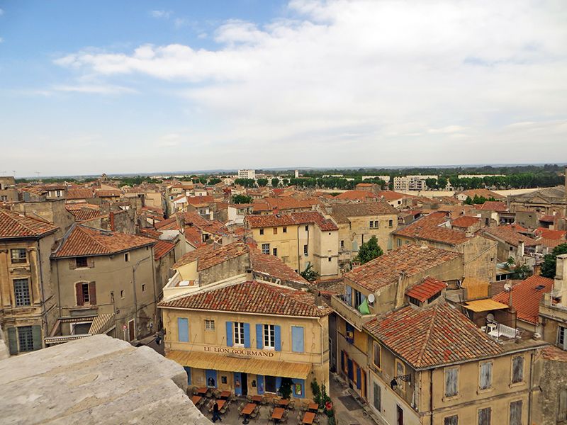 View of Arles from the top